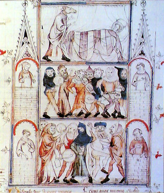 Medieval illustration symbolizing a carnival period